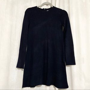 ZARA Thick Navy Knit Long Sleeve Dress Size Small